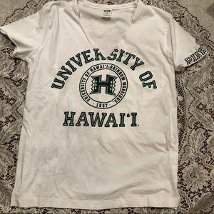 PINK Victoria's Secret university of Hawaii tee